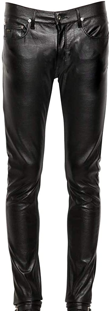 Koza Leathers Mens Leather Pant Trouser Genuine Lambskin Real Leather Casual Pant PM051