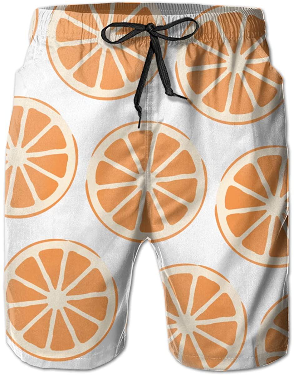 Ruto Crushed Lemon Mens Swim Trunks Summer Casual Athletic Swimming Short