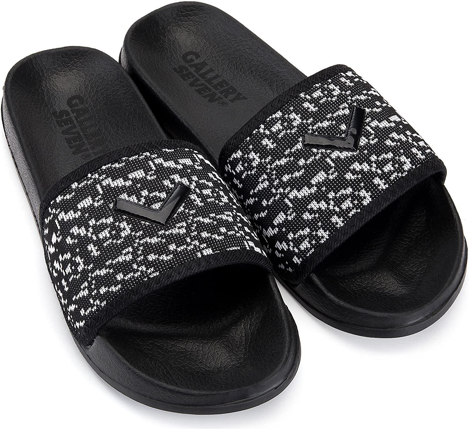 Gallery Seven Mens Athletic Slide Sandals - Beach and House Slippers