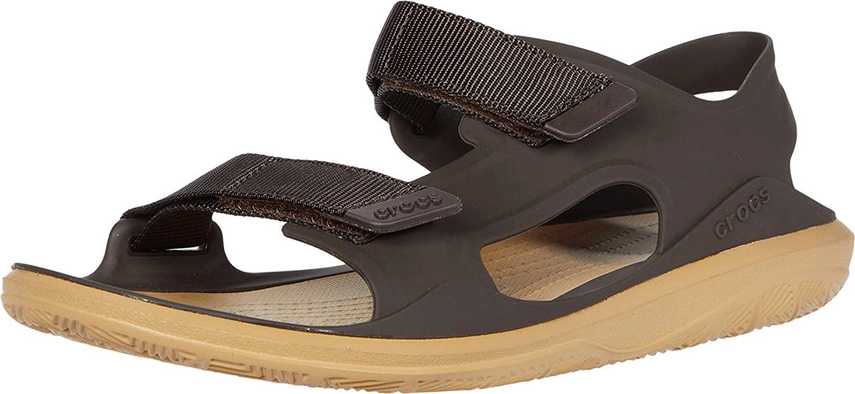 Crocs Swiftwater Expedition Molded Open Toe Sandals, Espresso/Tan, 11 UK 46/47 EU