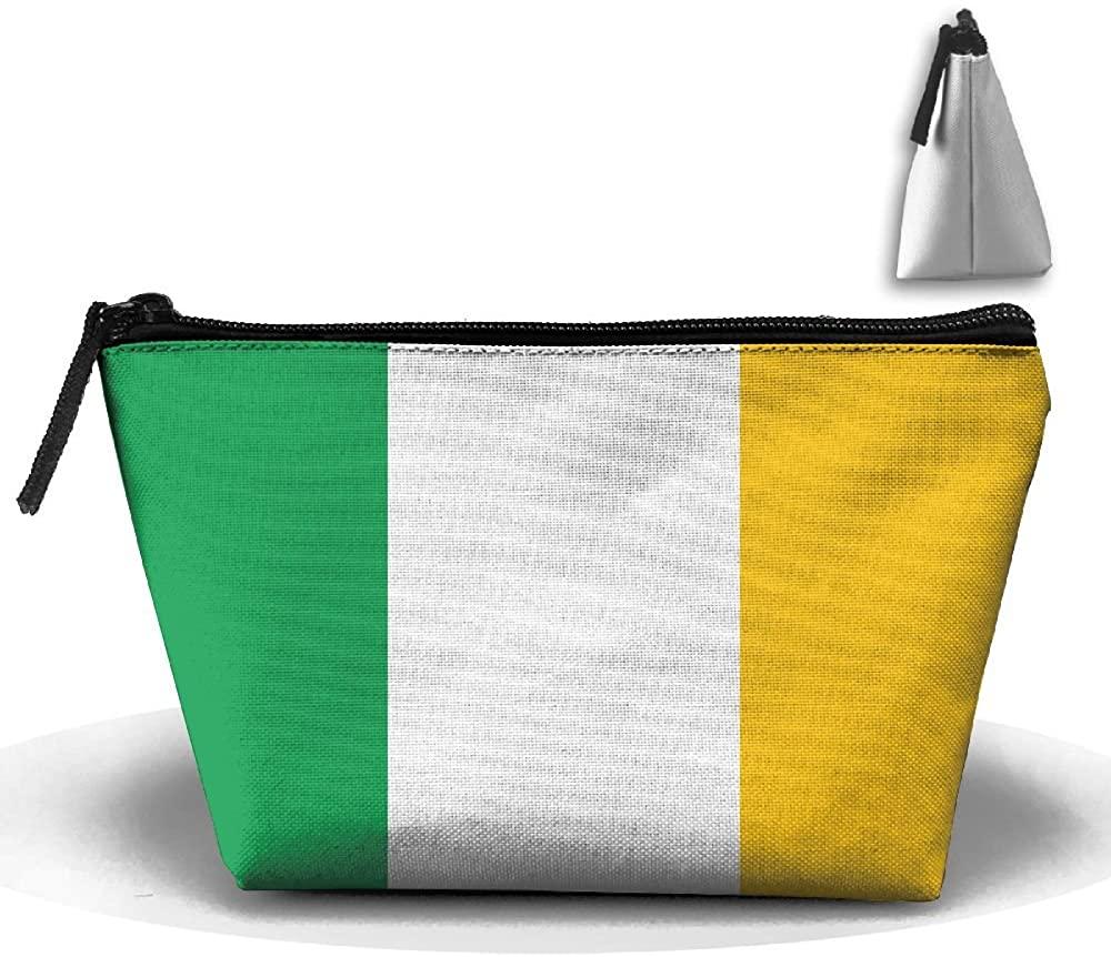 HTSS Ireland Flag Portable Makeup Receive Bag Storage Large Capacity Bags Hand Travel Wash Bag