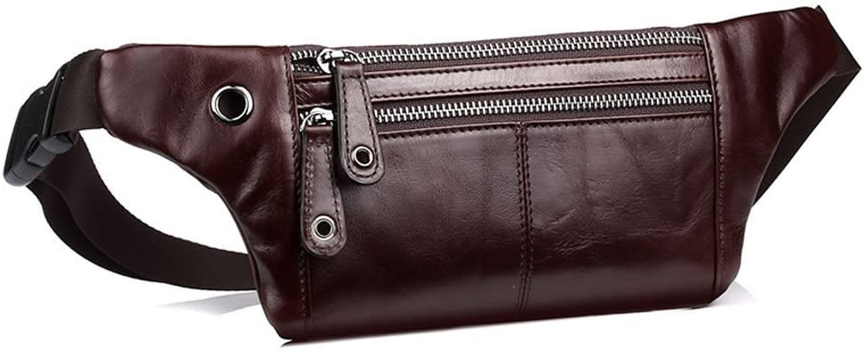 EVERDOSS Fanny Pack Leather Waist Sport Outdoor Day Bag