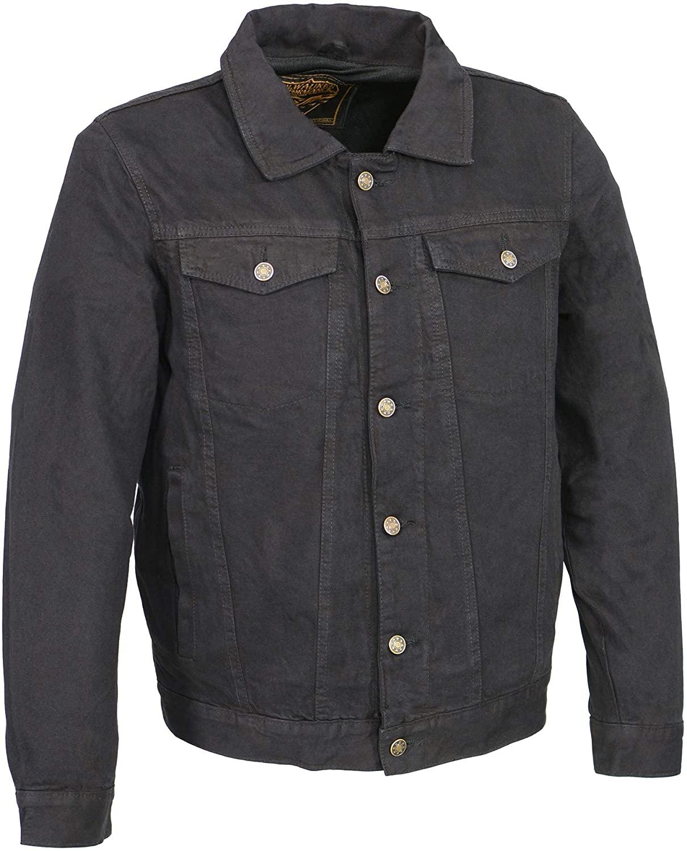 Milwaukee Performance MDM1015 Men's Classic Black Denim Jean Pocket Jacket with Gun Pockets