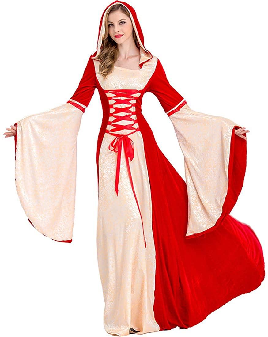 Gilt Court European Retro Sorcerer Robe Fire Department Witch Halloween Costume