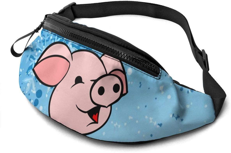 Cute Pink Pig Fashion Casual Waist Bag Fanny Pack Travel Bum Bags Running Pocket For Men Women