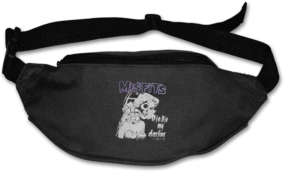 Ertregysrtg The Misfits Die My Darling Runner's Waist Pack Fashion Sport Bag