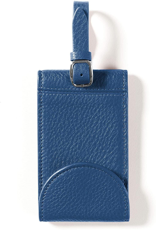 Leatherology Cobalt Snap Luggage Tag