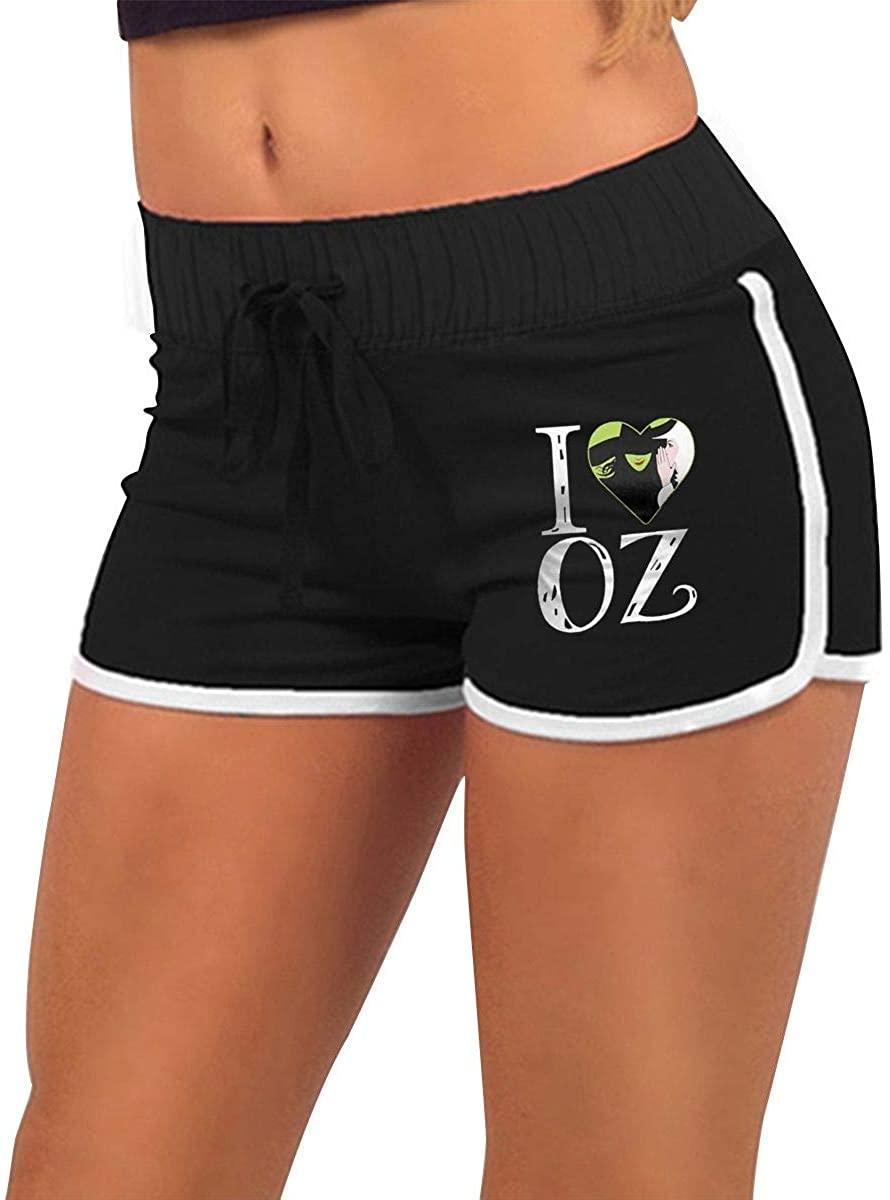 Women's Low Waist Hot Pants Shorts Sweatpants Wicked The Musical Original Minimalist Style Black Black
