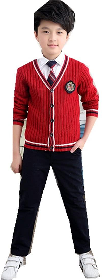 Korean School Clothes Suit Uniforms Children's Clothing Student Three Pieces Set