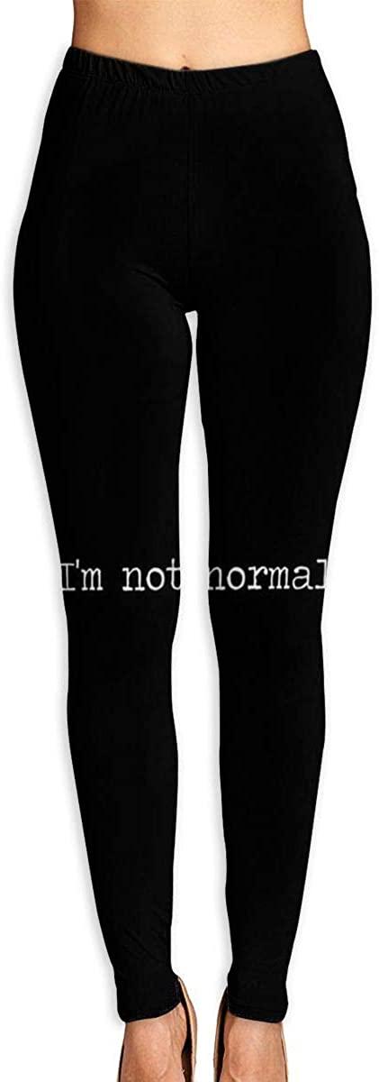Apuiutw I'm Not Normal Women Funny Print Yoga Leggings Pants Workout Fitness Pants Sports Gym Yoga Quick Dry Capri Leggings