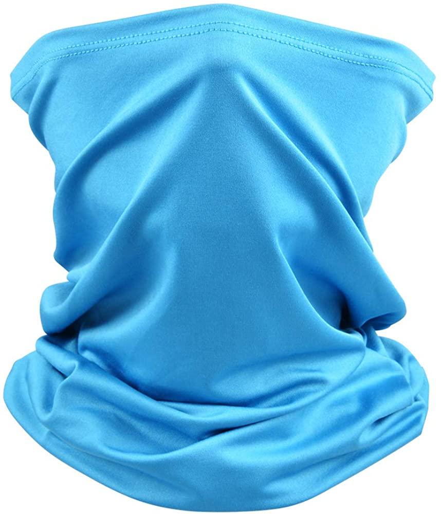 BRIGHT MOON Unisex Seamless Rave Bandana Neck Gaiter Tube Headwear Bandana, Motorcycle Face Bandana for Women Men Face Scarf…
