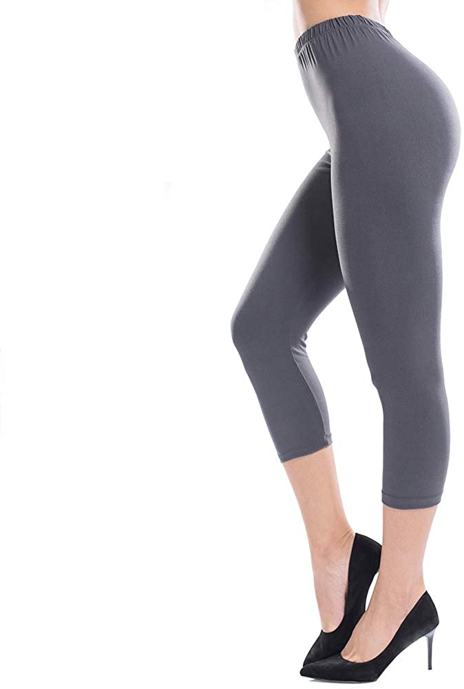 ZEALOTPOWER Capri Leggings for Women Plus Size Ultra Soft High Waist Stretchable