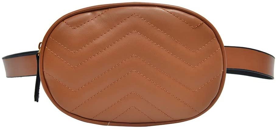 Fifimin Fashion Waist Fanny Pack Women PU Leather Belt Zipper Phone Pouch Bag Chest Tote Purse