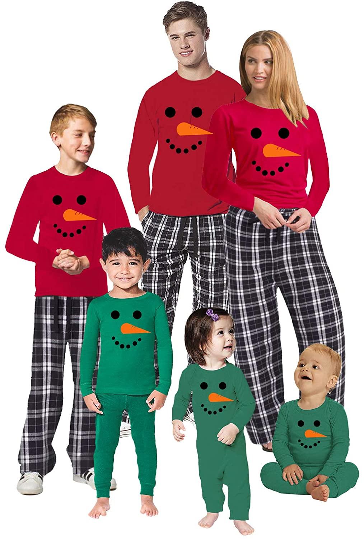 Awkward Styles Christmas Pajamas for Family Xmas Snowman Matching Christmas Sleepwear