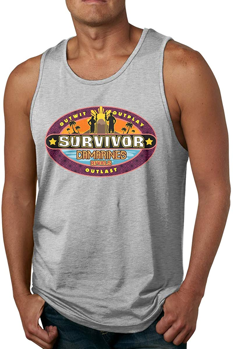 Survivor CBS Tv Television Show Mens Men's Cotton Tank Top Shirt,Worn Outside Or Inside