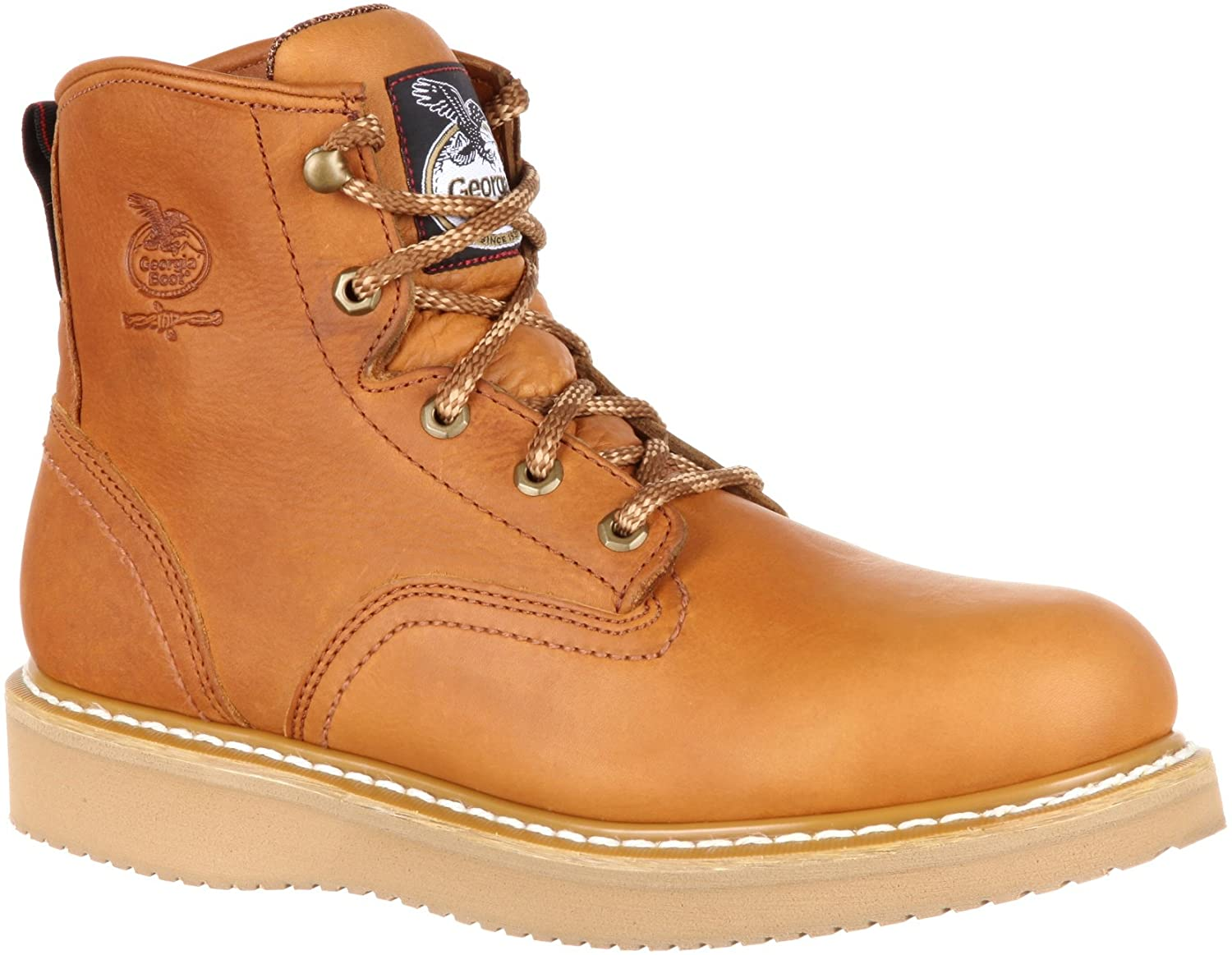 Georgia Men's Barracuda Gold Wedge Work Boots-G6152 (M5.5)