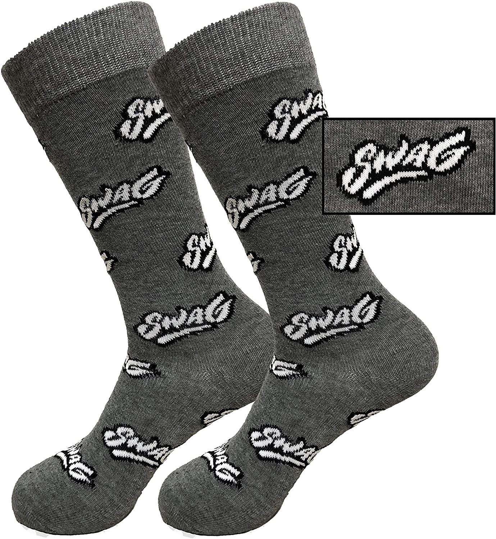 Balanced Co. Swag Dress Socks Cool Socks Meme Socks Crazy Socks Casual Cotton Crew Socks