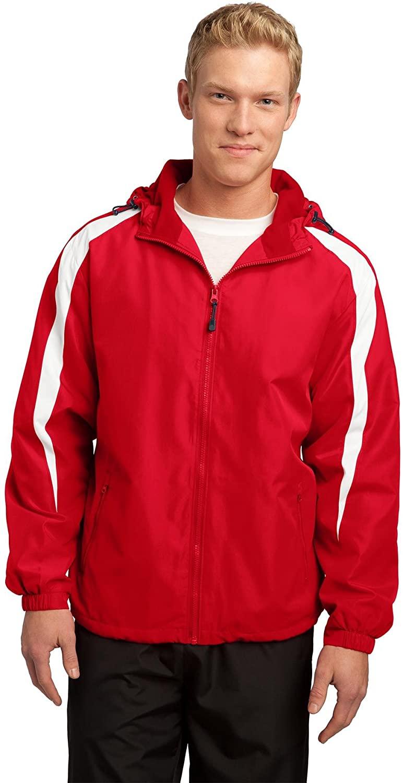 Sport-Tek Fleece-Lined Colorblock Jacket XS True Red/White