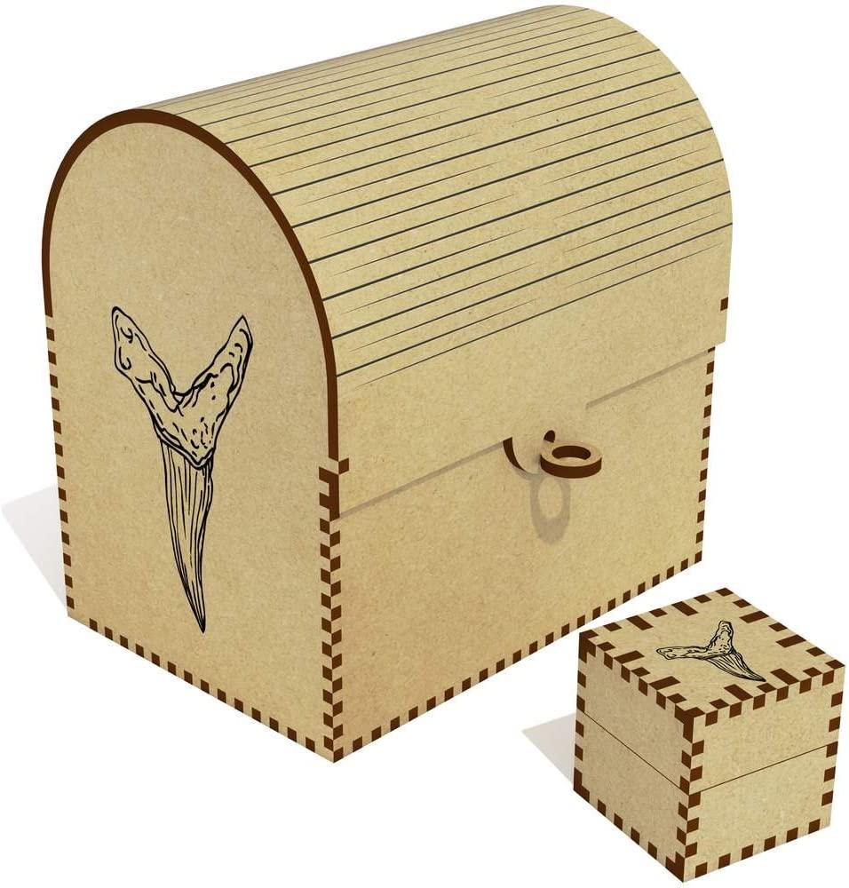 Azeeda 'Shark Tooth' Treasure Chest / Jewellery Box (TC00014749)