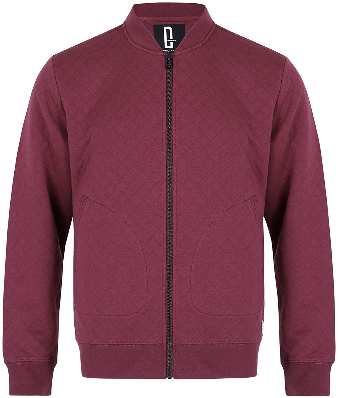 DINOGREY Men's Air Cotton Jacket Lightweight Bomber Long Sleeved Fit Full Zip Casual Coat