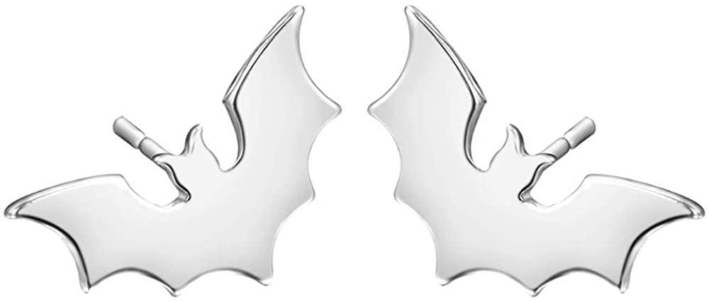Small Bat Batman Earrings Jewelry Gothic Vampire Animal Stud Earrings Spooky Gifts