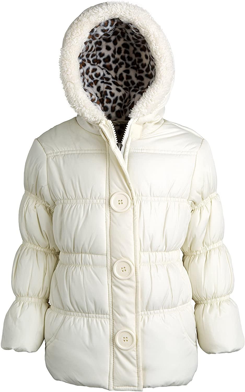 Pink Platinum Little Girls Hooded Fleece Lined Down Alternative Warm Puffer Coat