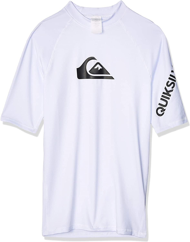Quiksilver Young Men's Sportswear Quiksilver Time Short Sleeve Rashguard Swim Shirt UPF 50+
