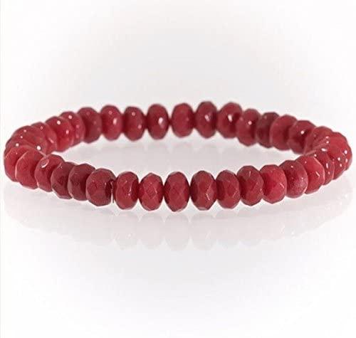 AAA++ Rare Quality Red Ruby semi precious 5x8mm gemstone bracelet Code- WAR1852