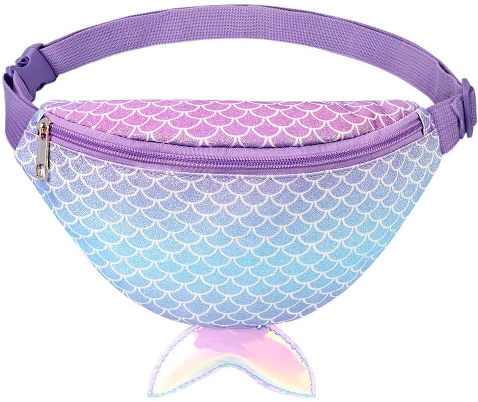 Mibasies Mermaid Kids Fanny Pack for Girls Belt Bag Toddler Purse