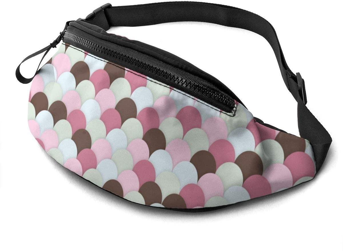 Scallops Background Fanny Pack Fashion Waist Bag