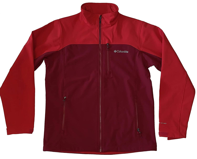 Columbia Men's Windproof Thunder River Softshell Full Zip Jacket Coat