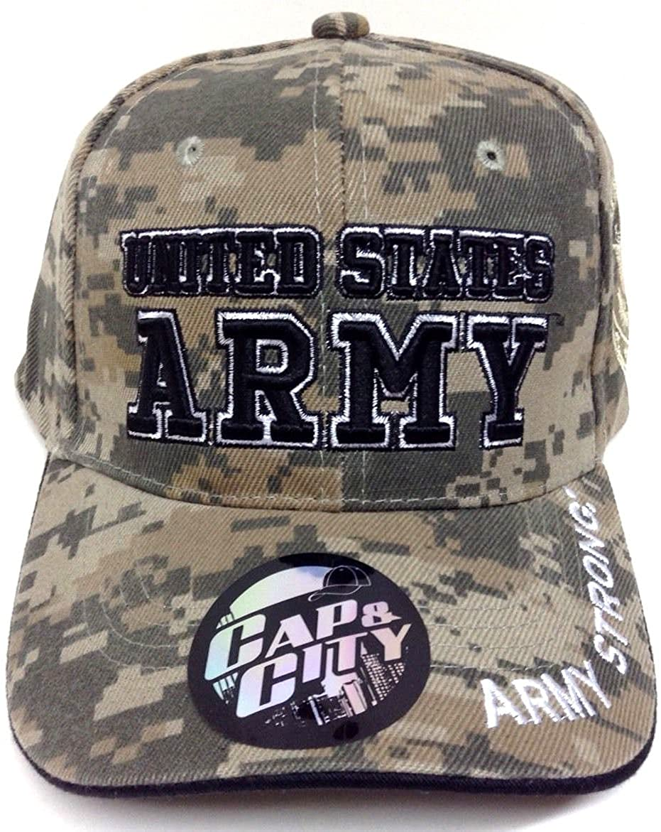 US ARMY STRONG LICENSED SEAL MILITARY DIGI CAMO HAT CAP [Apparel]