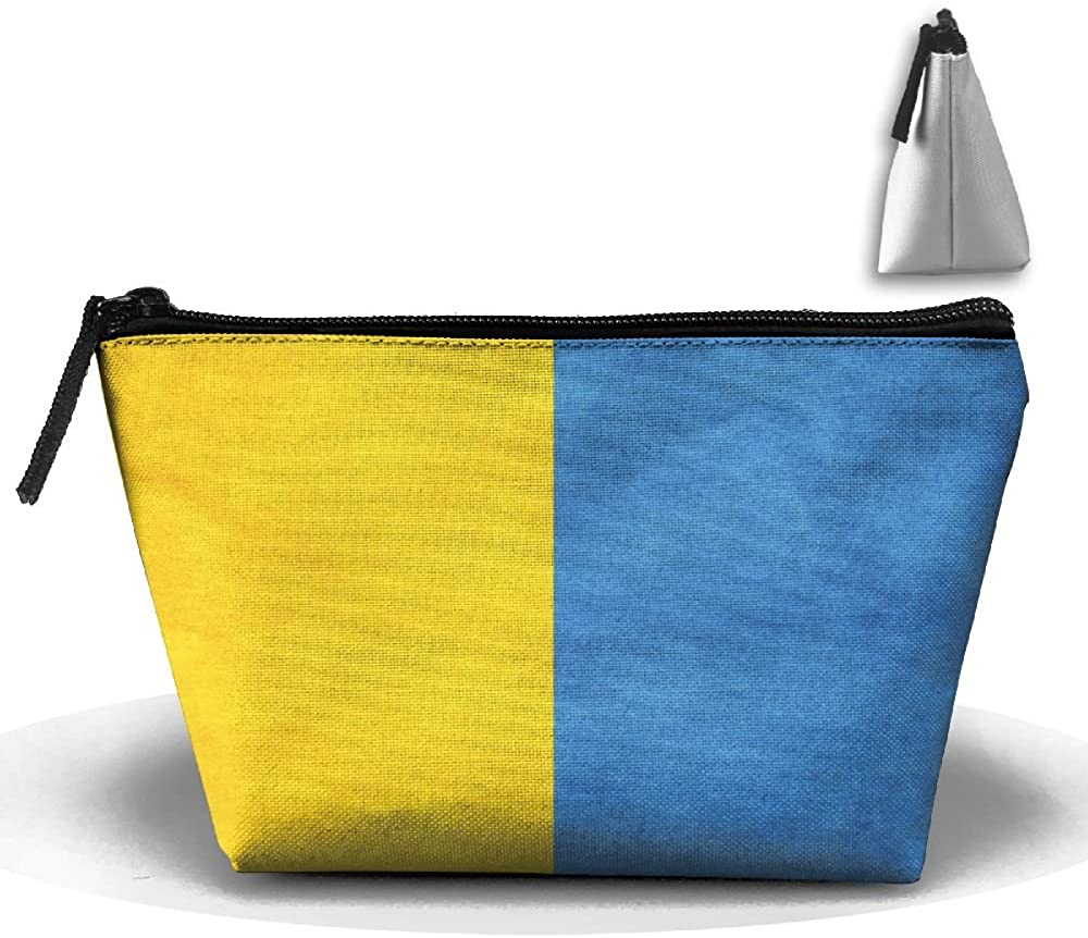 HTSS Flag Of Ukraine Portable Makeup Receive Bag Storage Large Capacity Bags Hand Travel Wash Bag