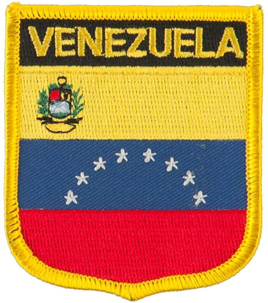 South America Flag Embroidered Patch Shield - Venezuela