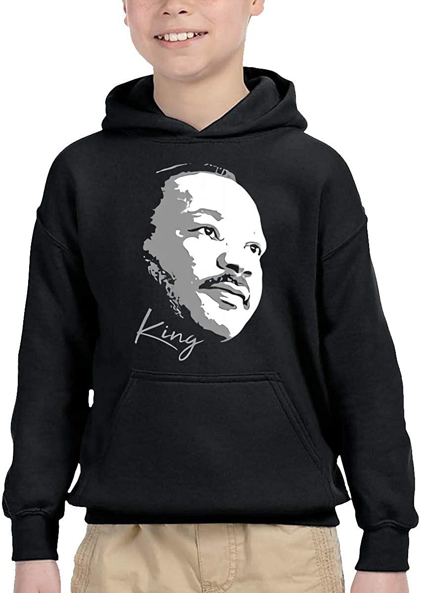 Funny Team MLK 68 Martin Luther King Jr Comfortable Children's Hooded Pocket Sweater Black