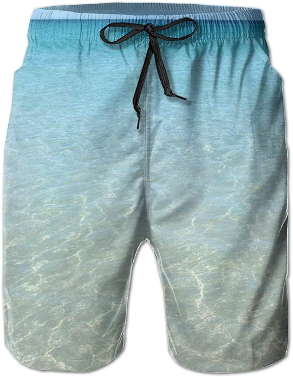 NiYoung Men Boys Fashion Swim Trunks Quick Dry Summer Beach Shorts with Pockets