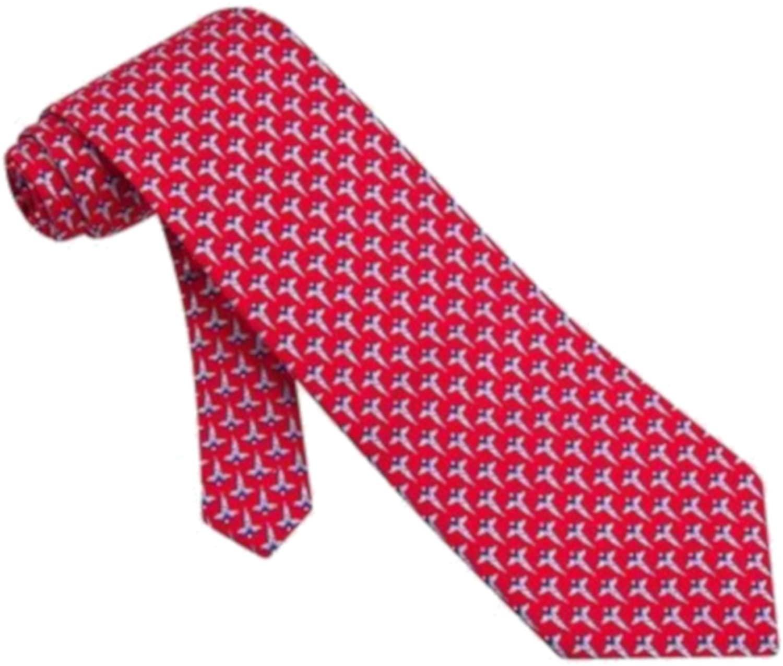 Men's 100% Silk Red Caduceus Medical Doctor Necktie Tie Neckwear
