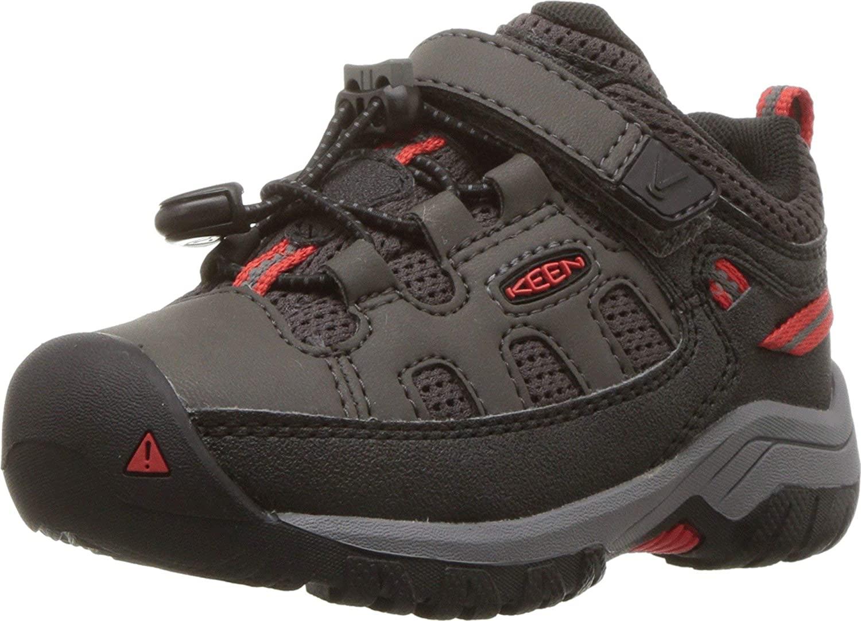 KEEN Kids' Targhee Low Hiking Shoe, Black, 8 Little Kid