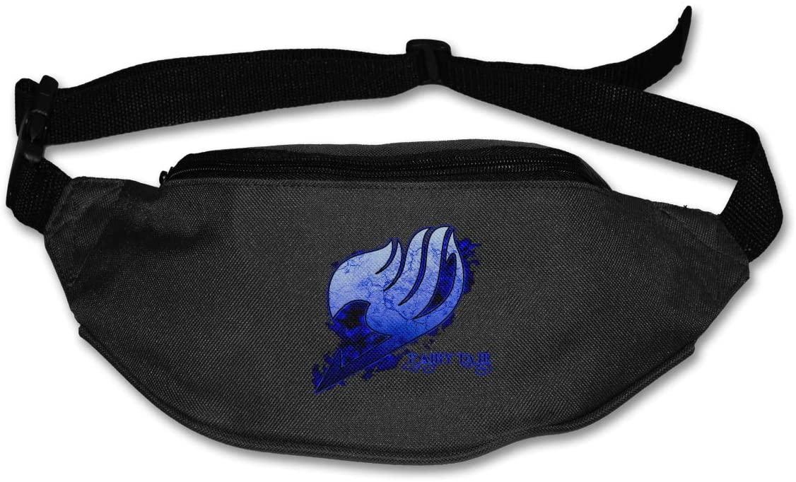 TeriDDeas Fairy Tail Logo Unisex Best Combo Fanny Pack Waist Bag Phone Holder Adjustable Running Belt for Cycling,Hiking,Gym