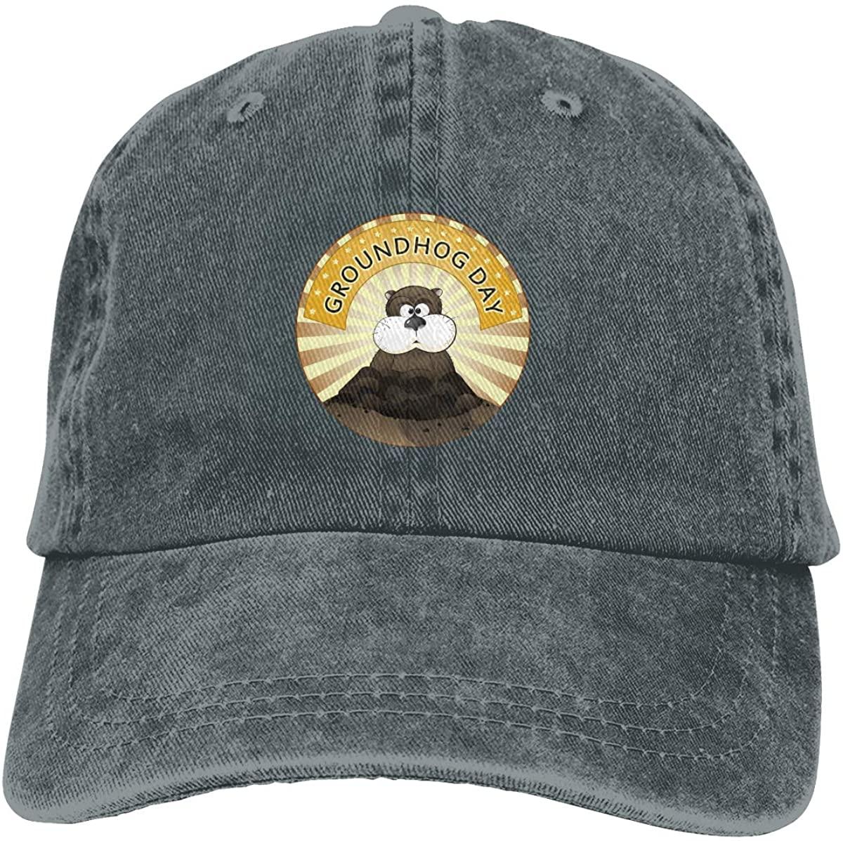 Tailing Groundhog Day Unisex Adjustable Cowboy Hat Baseball Cap for Sport