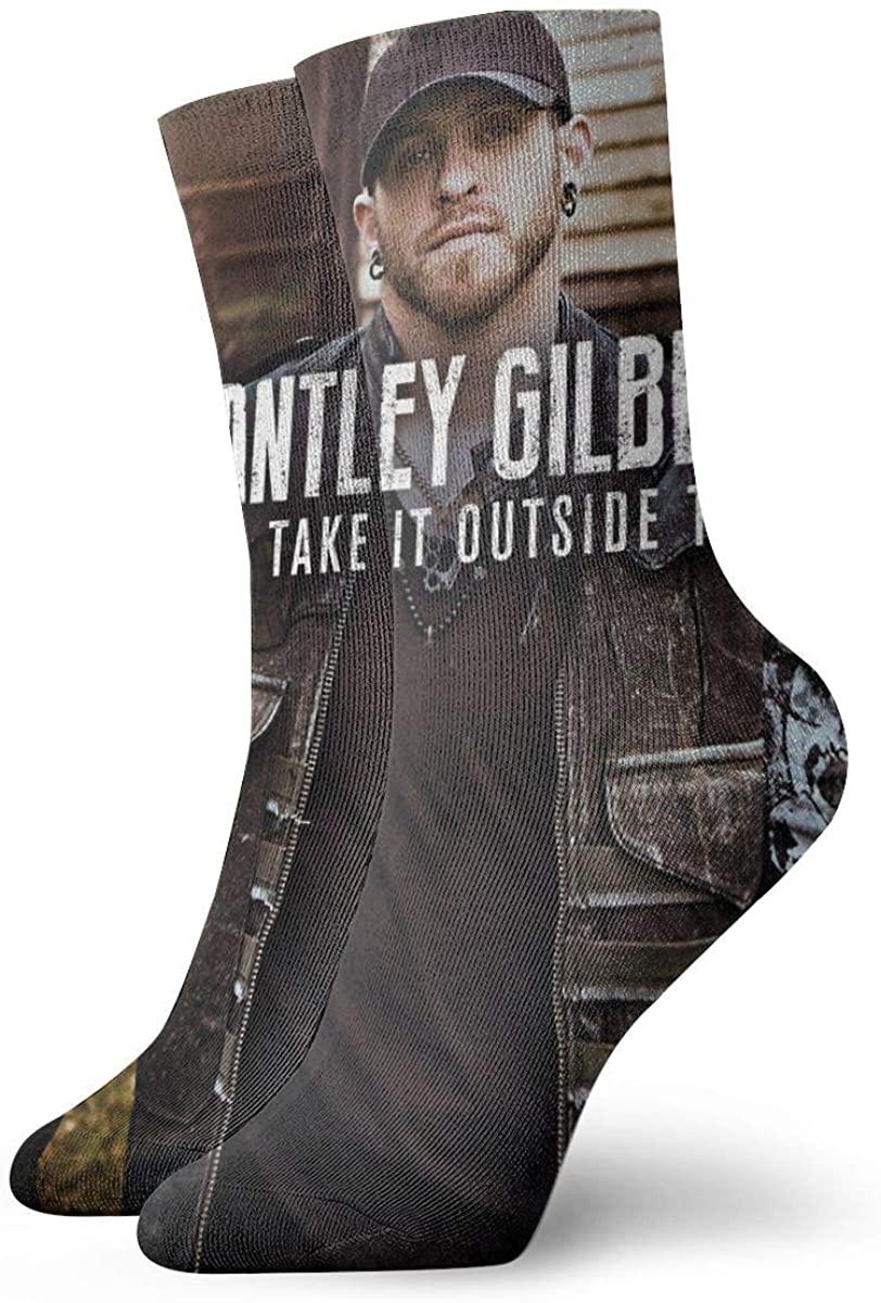 Brantley Gilbert Men's Cotton Work Gear Crew Socks Cushioned, Wicking, Durable