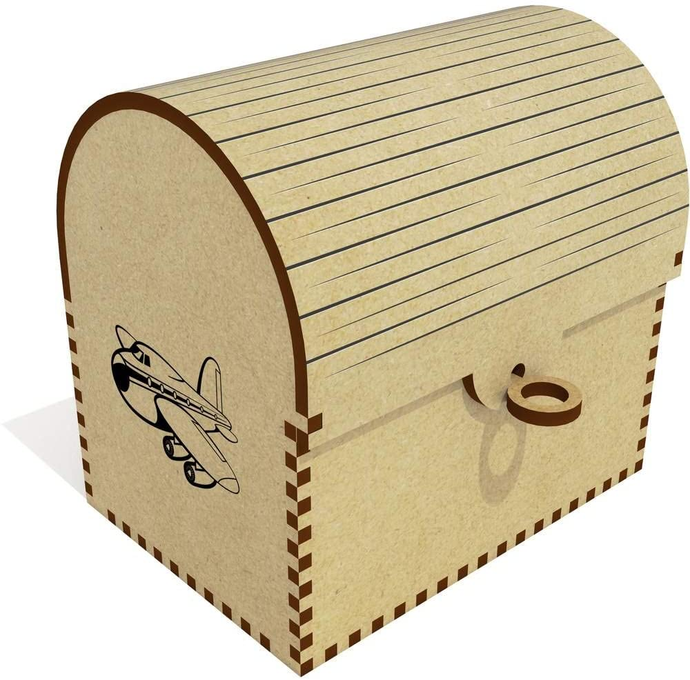 Azeeda 'Passenger Plane' Treasure Chest / Jewellery Box (TC00001366)