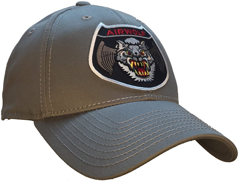 Airwolf Air Wolf TV Show Hat 100% Cotton - Light Gray Ball Cap