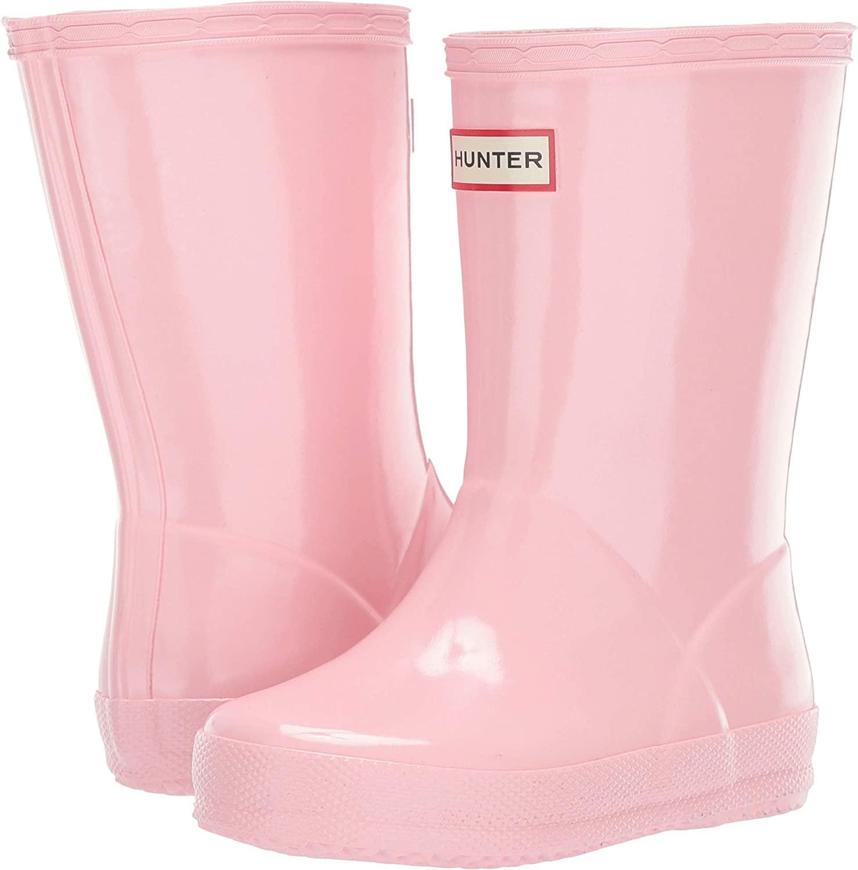 Hunter Kids Original Kids First Classic Gloss Rain Boot (Toddler) Candy Floss 12 Little Kid M