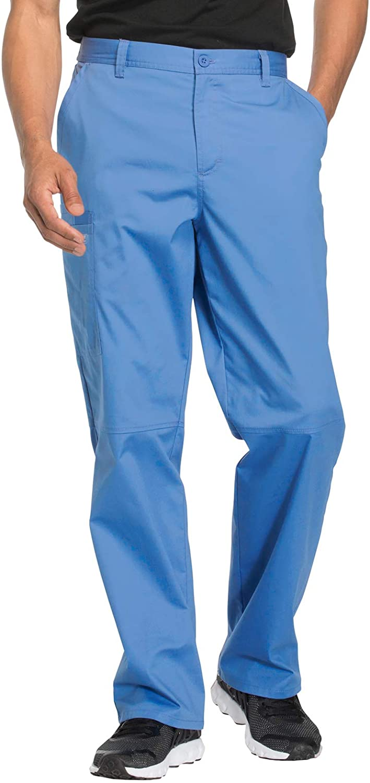 CHEROKEE Workwear Core Stretch WW200 Men's Fly Front Pant Ciel M Short