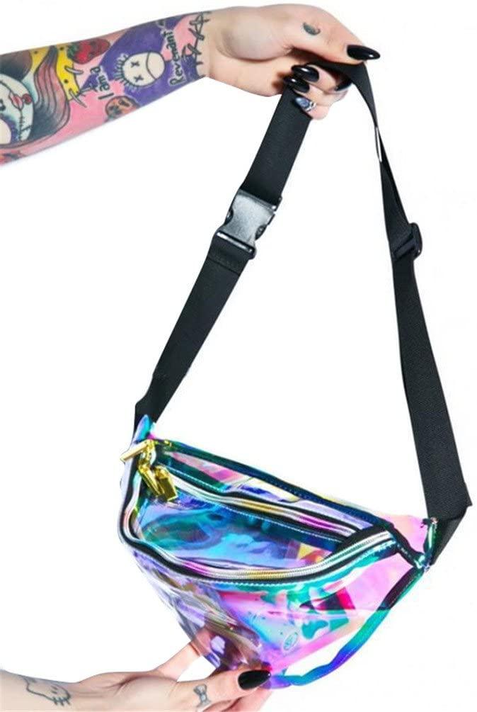 Haotfire Women's Waist Bag Shiny Fanny Pack Bumbag Hiking Travel Waist Packs