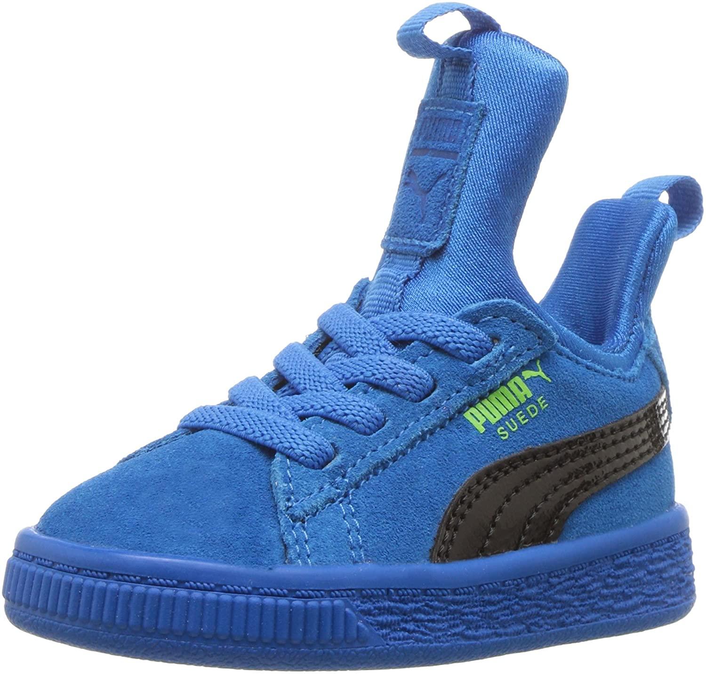 PUMA Kids' Suede Fierce Patent Block Slip on Sneaker
