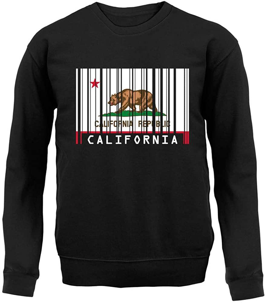 Dressdown California Barcode Style Flag - Unisex Crewneck Sweater/Jumper