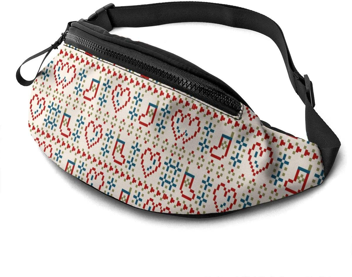 Knitted Christmas Day Fanny Pack Fashion Waist Bag