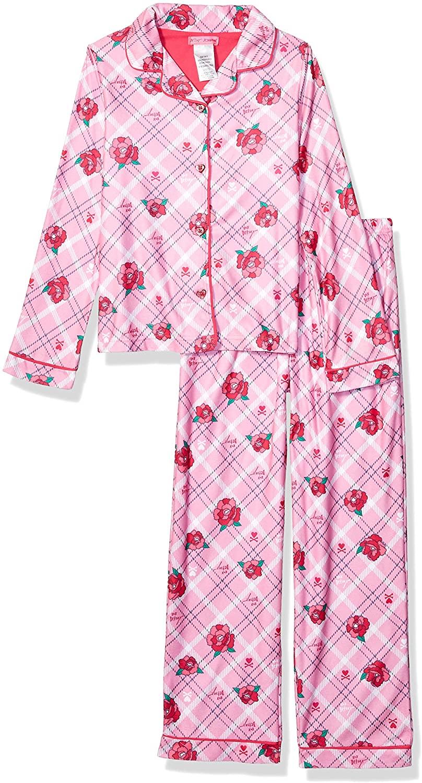 Betsey Johnson Girls' Big Button Down Pajama Set